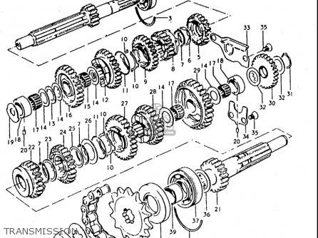 Suzuki T350 1969 1970 1971 1972   r j Usa e03 Transmission