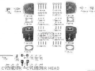 CYLINDER - CYLINDER HEAD - TA250 TWIN ACE 1960