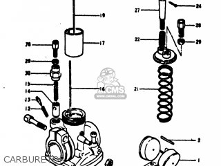 Suzuki TC100 1973 K USA E03 CARBURETOR