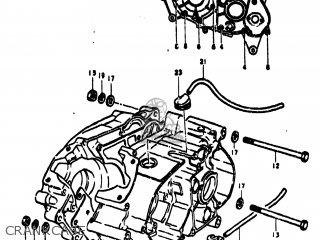 Suzuki TC100 1976 A USA E03 CRANKCASE