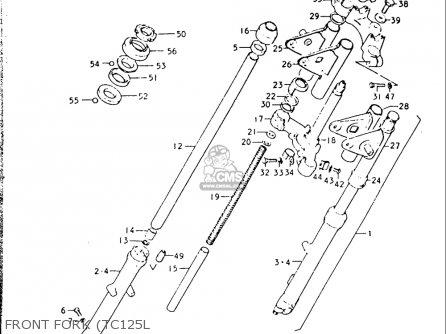 Suzuki Tc125 1973-1977 usa Front Fork tc125l