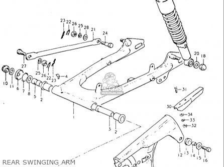 Suzuki Tc125 1973-1977 usa Rear Swinging Arm