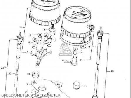 Suzuki Tc125 1973-1977 usa Speedometer - Tachometer