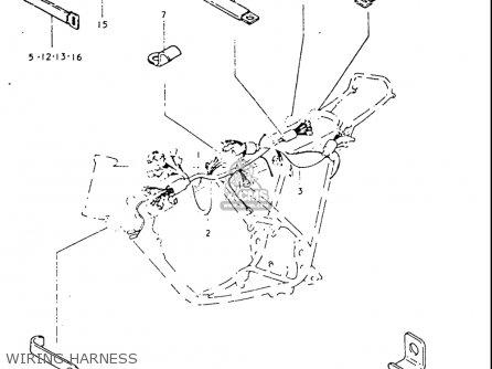 Suzuki Tc125 1973-1977 usa Wiring Harness