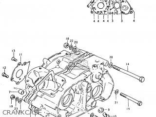 Suzuki Tc125 1973 k Usa e03 Crankcase