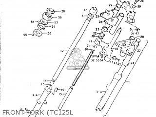 Suzuki Tc125 1973 k Usa e03 Front Fork tc125l