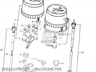 Suzuki Tc125 1973 k Usa e03 Speedometer - Tachometer