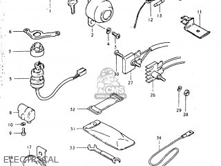 suzuki tc125 1974  l  usa  e03  parts lists and schematics