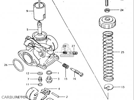 Suzuki Tc185 1974-1977 usa Carburetor