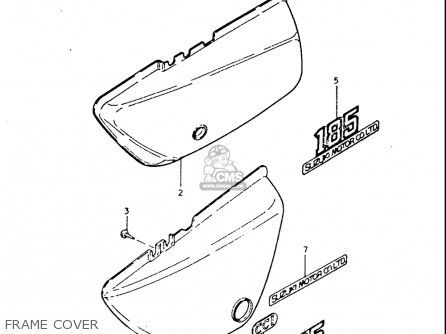 Suzuki Tc185 1974-1977 usa Frame Cover