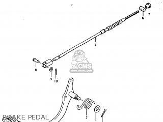 suzuki tc185 1974 (l) usa (e03) brake pedal