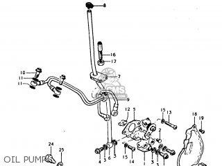 suzuki tc185 1974 (l) usa (e03) parts lists and schematics Suzuki 185 Enduro oil pump