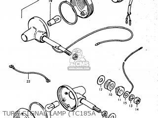suzuki tc185 1974 (l) usa (e03) parts lists and schematicsturn signal lamp (tc185a