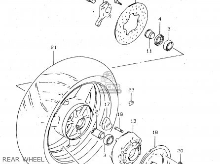Suzuki Tl1000 1997 sv Rear Wheel