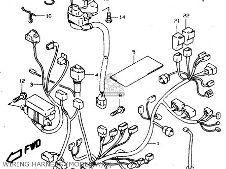 Suzuki Tl1000 1997 sv Wiring Harness model W x