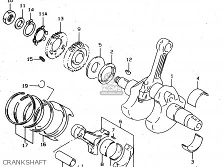 Suzuki Tl1000s 1997 v Crankshaft