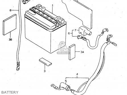 Suzuki Tl1000s 1997 v e02 E04 E18 E22 E24 E25 E34 E39   P37 Battery