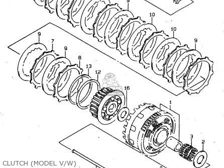 Suzuki Tl1000s 1997 v e02 E04 E18 E22 E24 E25 E34 E39   P37 Clutch model V w