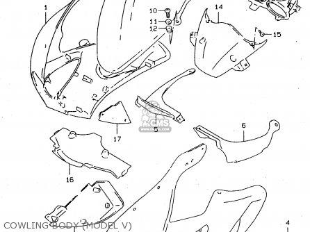 Suzuki Tl1000s 1997 v e02 E04 E18 E22 E24 E25 E34 E39   P37 Cowling Body model V