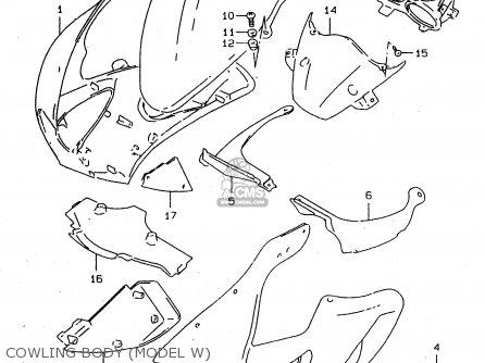 Suzuki Tl1000s 1997 v e02 E04 E18 E22 E24 E25 E34 E39   P37 Cowling Body model W