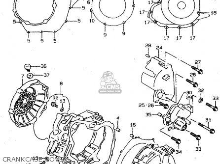 Suzuki Tl1000s 1997 v e02 E04 E18 E22 E24 E25 E34 E39   P37 Crankcase Cover