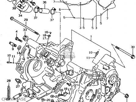 Suzuki Tl1000s 1997 v e02 E04 E18 E22 E24 E25 E34 E39   P37 Crankcase