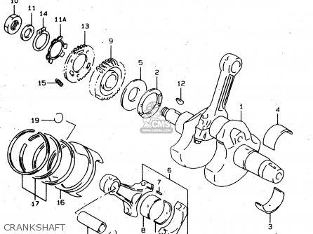 Suzuki Tl1000s 1997 v e02 E04 E18 E22 E24 E25 E34 E39   P37 Crankshaft