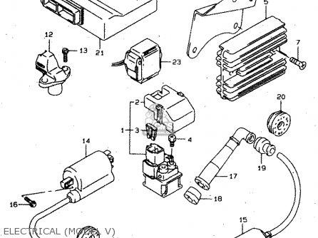 Suzuki Tl1000s 1997 v e02 E04 E18 E22 E24 E25 E34 E39   P37 Electrical model V