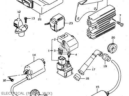 Suzuki Tl1000s 1997 v e02 E04 E18 E22 E24 E25 E34 E39   P37 Electrical model W x