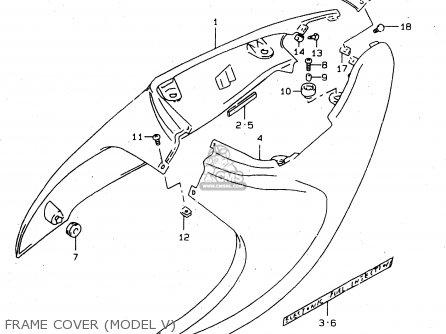 Suzuki Tl1000s 1997 v e02 E04 E18 E22 E24 E25 E34 E39   P37 Frame Cover model V