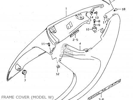 Suzuki Tl1000s 1997 v e02 E04 E18 E22 E24 E25 E34 E39   P37 Frame Cover model W