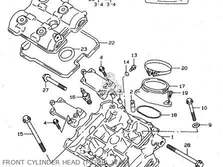 Suzuki Tl1000s 1997 v e02 E04 E18 E22 E24 E25 E34 E39   P37 Front Cylinder Head model W x