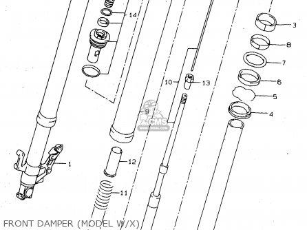 Suzuki Tl1000s 1997 v e02 E04 E18 E22 E24 E25 E34 E39   P37 Front Damper model W x