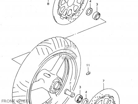 Suzuki Tl1000s 1997 v e02 E04 E18 E22 E24 E25 E34 E39   P37 Front Wheel