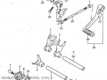 Suzuki Tl1000s 1997 v e02 E04 E18 E22 E24 E25 E34 E39   P37 Gear Shifting model V w