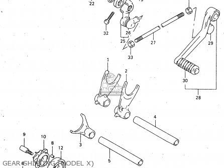 Suzuki Tl1000s 1997 v e02 E04 E18 E22 E24 E25 E34 E39   P37 Gear Shifting model X