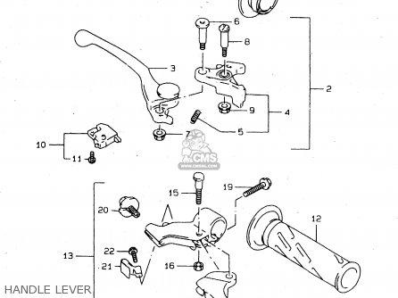 Suzuki Tl1000s 1997 v e02 E04 E18 E22 E24 E25 E34 E39   P37 Handle Lever