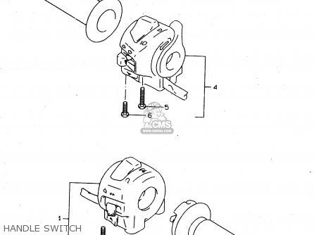 Suzuki Tl1000s 1997 v e02 E04 E18 E22 E24 E25 E34 E39   P37 Handle Switch