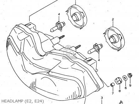 Suzuki Tl1000s 1997 v e02 E04 E18 E22 E24 E25 E34 E39   P37 Headlamp e2  E24