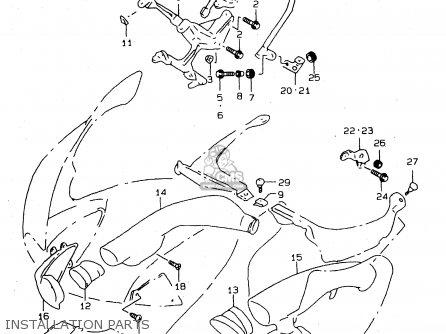 Suzuki Tl1000s 1997 v e02 E04 E18 E22 E24 E25 E34 E39   P37 Installation Parts