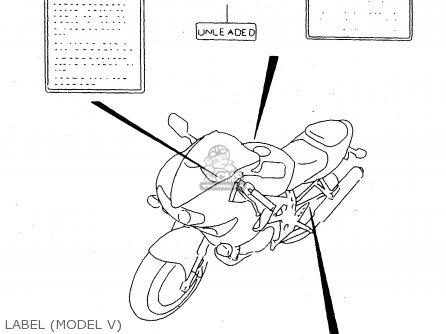 Suzuki Tl1000s 1997 v e02 E04 E18 E22 E24 E25 E34 E39   P37 Label model V