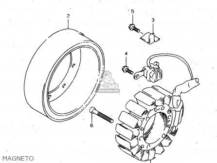 Suzuki Tl1000s 1997 v e02 E04 E18 E22 E24 E25 E34 E39   P37 Magneto