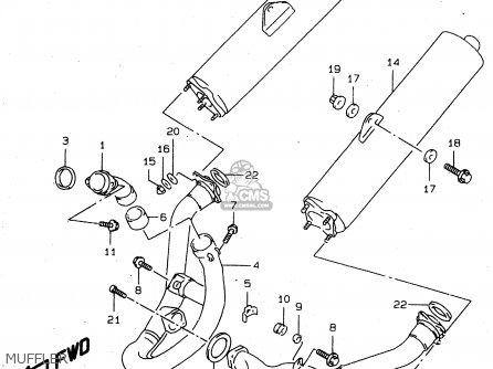 Suzuki Tl1000s 1997 v e02 E04 E18 E22 E24 E25 E34 E39   P37 Muffler