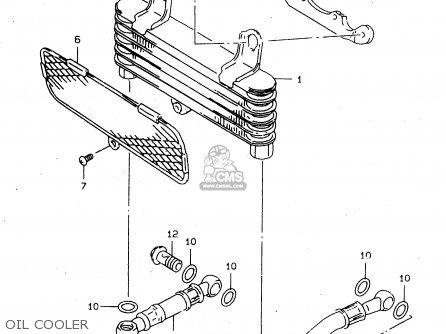 Suzuki Tl1000s 1997 v e02 E04 E18 E22 E24 E25 E34 E39   P37 Oil Cooler