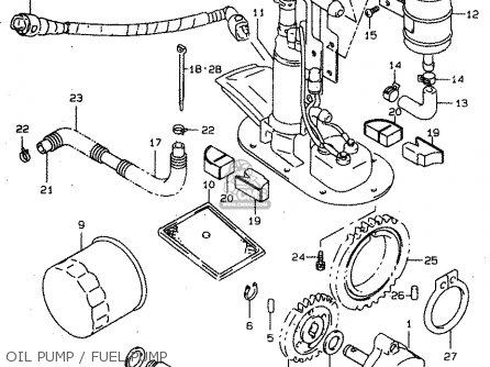 Suzuki Tl1000s 1997 v e02 E04 E18 E22 E24 E25 E34 E39   P37 Oil Pump   Fuel Pump