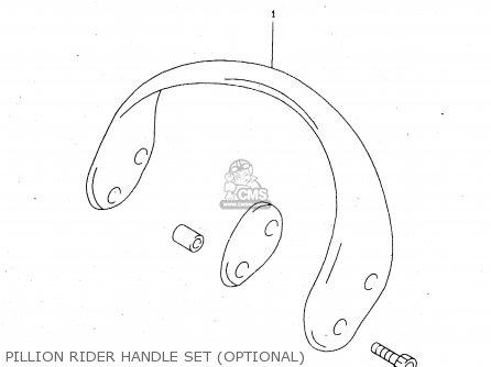 Suzuki Tl1000s 1997 v e02 E04 E18 E22 E24 E25 E34 E39   P37 Pillion Rider Handle Set optional