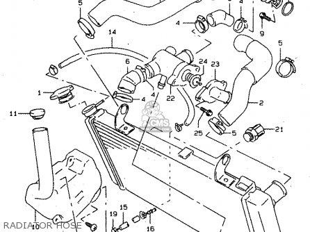 Suzuki Tl1000s 1997 v e02 E04 E18 E22 E24 E25 E34 E39   P37 Radiator Hose