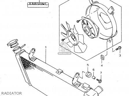 Suzuki Tl1000s 1997 v e02 E04 E18 E22 E24 E25 E34 E39   P37 Radiator