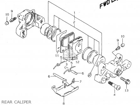 Suzuki Tl1000s 1997 v e02 E04 E18 E22 E24 E25 E34 E39   P37 Rear Caliper