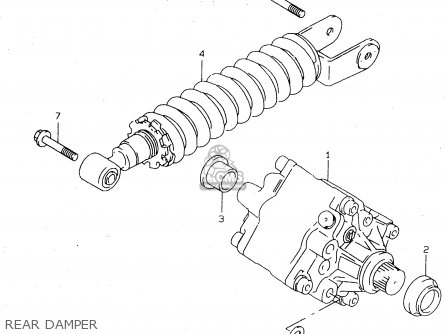 Suzuki Tl1000s 1997 v e02 E04 E18 E22 E24 E25 E34 E39   P37 Rear Damper